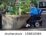 an elderly woman in an assisted ... | Shutterstock . vector #158810384