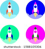 vector of rocket launch icon...