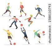 people sport gesture activity... | Shutterstock .eps vector #1588110793