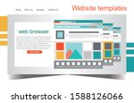 simple flat website templates   ...