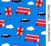 blue british background | Shutterstock .eps vector #158812946