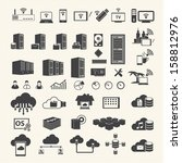 big data icons set | Shutterstock .eps vector #158812976