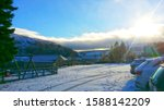 Beautiful Winter Scene Of Snow...