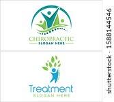 chiropractic logo with describe ... | Shutterstock .eps vector #1588144546