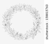 vintage flower label | Shutterstock .eps vector #158815763