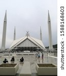 Small photo of ISLAMABAD, PAKISTAN - December 14,2019: Pakistani Government made a comprehensive plan for King Faisal Mosque's management .