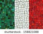 Italian Flag In Mosaic