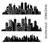 vector cities silhouette | Shutterstock .eps vector #158823446