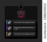 dark user interface layout...