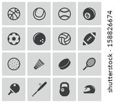 vector black sport icons set | Shutterstock .eps vector #158826674