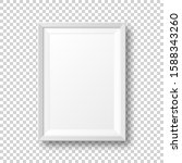realistic blank white picture... | Shutterstock .eps vector #1588343260