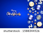 card for christmas and newyear...   Shutterstock . vector #1588344526