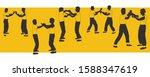 illustration vector silhouettes ... | Shutterstock .eps vector #1588347619