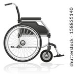 wheelchair vector illustration... | Shutterstock .eps vector #158835140