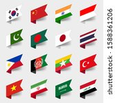 labels flags of the countries... | Shutterstock .eps vector #1588361206