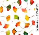 seamless watercolor autumn...   Shutterstock . vector #158841563