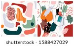set of abstract seamless... | Shutterstock .eps vector #1588427029