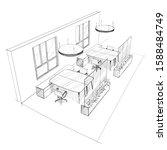 illustration of open space... | Shutterstock .eps vector #1588484749