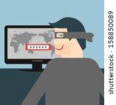 hacker. vectorial illustration... | Shutterstock .eps vector #158850089