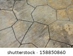 texture of the stone floor for... | Shutterstock . vector #158850860
