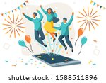 company contract greeting ... | Shutterstock .eps vector #1588511896