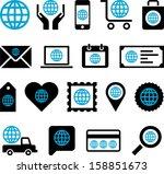conceptual world icons | Shutterstock .eps vector #158851673