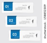 design clean number banners... | Shutterstock .eps vector #158852309