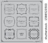beautiful luxury frame design... | Shutterstock .eps vector #1588523503