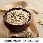 oat flakes. selective focus | Shutterstock . vector #158853050