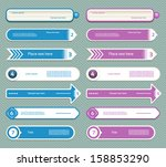 modern infographics options... | Shutterstock .eps vector #158853290