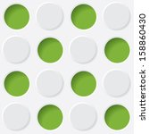 green and white circles. vector ...