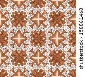 ornamental seamless lace... | Shutterstock . vector #158861468