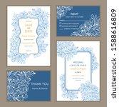 wedding invitation  with rsvp ...   Shutterstock .eps vector #1588616809