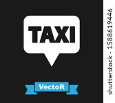 white map pointer with taxi... | Shutterstock .eps vector #1588619446