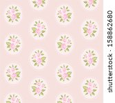 vintage floral pattern with... | Shutterstock .eps vector #158862680