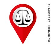 black justice scale icon on... | Shutterstock .eps vector #1588659643