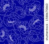 seamless pattern in blue ...   Shutterstock .eps vector #1588670860