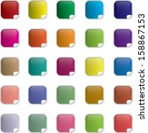 set of colored web buttons    Shutterstock .eps vector #158867153
