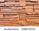 wooden wall from wooden house... | Shutterstock . vector #158870453