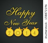 happy new year 2014 and merry... | Shutterstock .eps vector #158872196