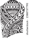 traditional tribal black and...   Shutterstock .eps vector #1588737790