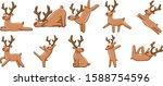 Reindeer Character Vector Set...
