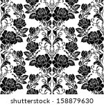 seamless pattern with flowers...   Shutterstock .eps vector #158879630