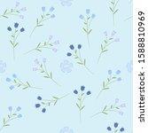 floral seamless pattern. vector ... | Shutterstock .eps vector #1588810969