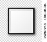 realistic blank black picture... | Shutterstock .eps vector #1588886386