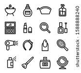 beauty icon set 16   editable...   Shutterstock .eps vector #1588888240