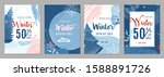 winter sale poster set... | Shutterstock .eps vector #1588891726