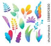 natural colorful florals set... | Shutterstock .eps vector #1588892830