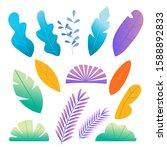 natural colorful florals set...   Shutterstock .eps vector #1588892833
