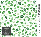 seamless pattern with green... | Shutterstock .eps vector #158890484